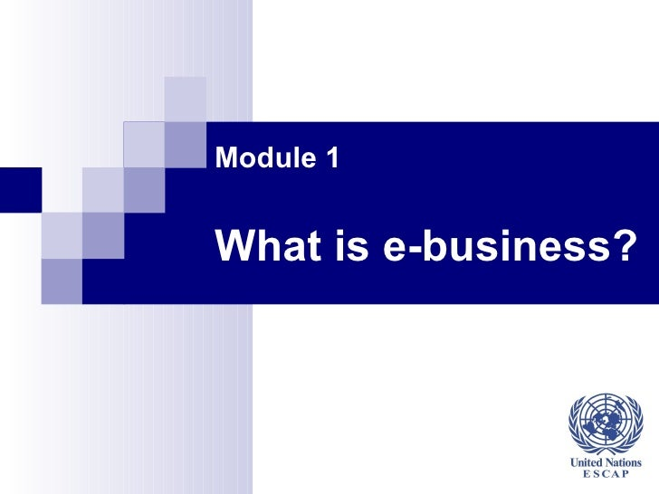 Module 1   What is e-business?