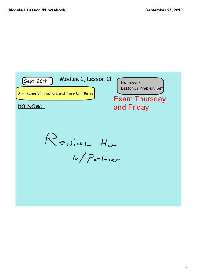Module 1 lesson 11