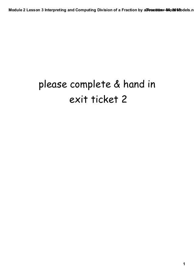 Module 2 lesson 3