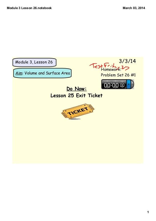 Module 3 lesson 26