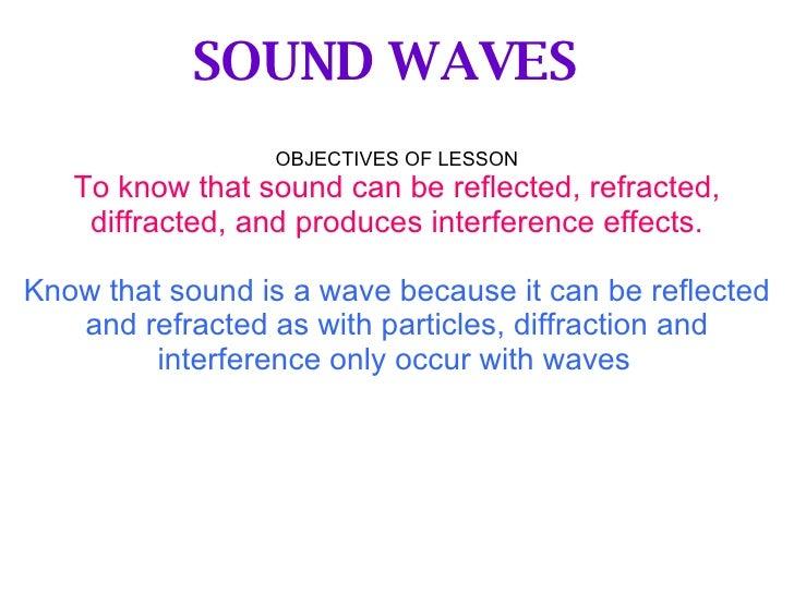 Properties Of Sound Physics
