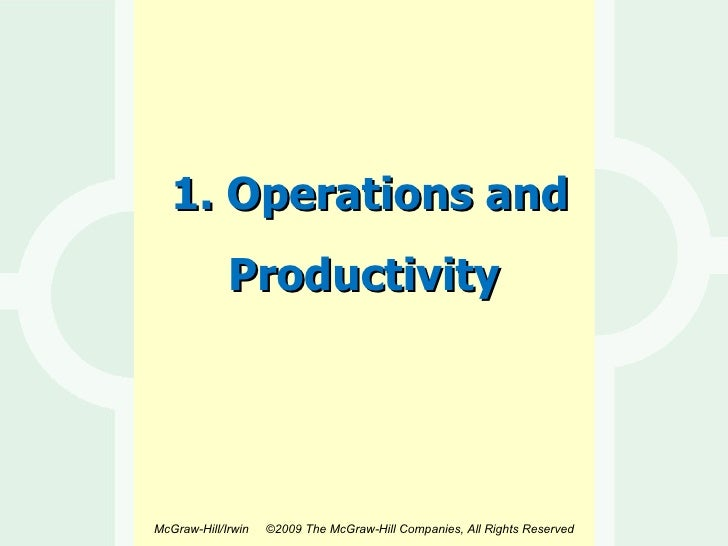 1. Operations and Productivity