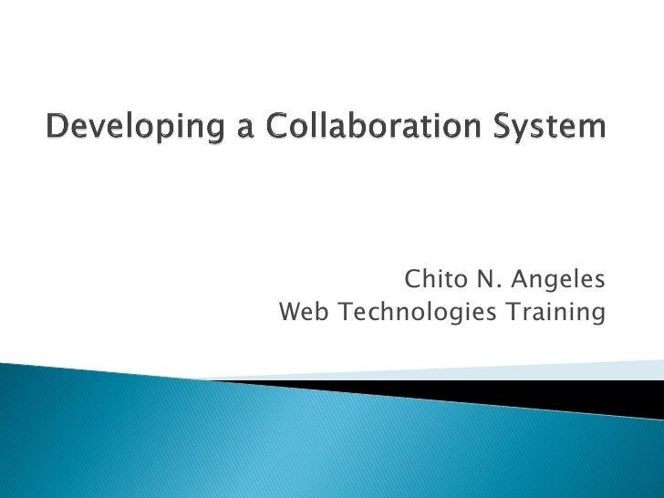 Chito N. AngelesWeb Technologies Training