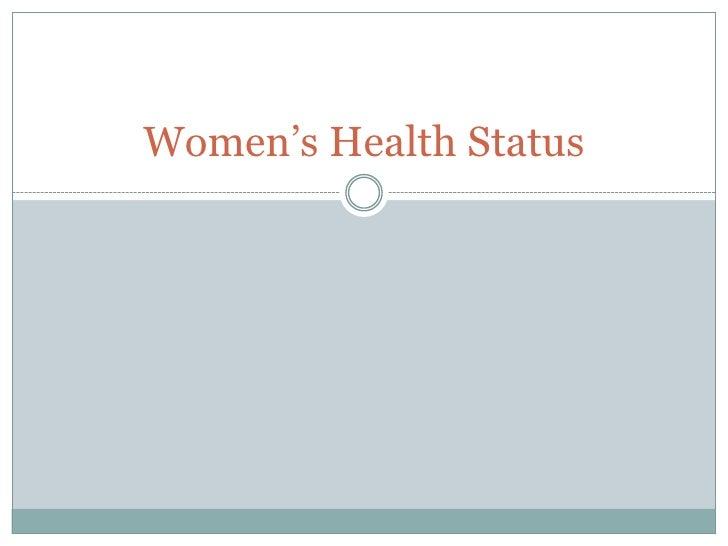 Women's Health Status