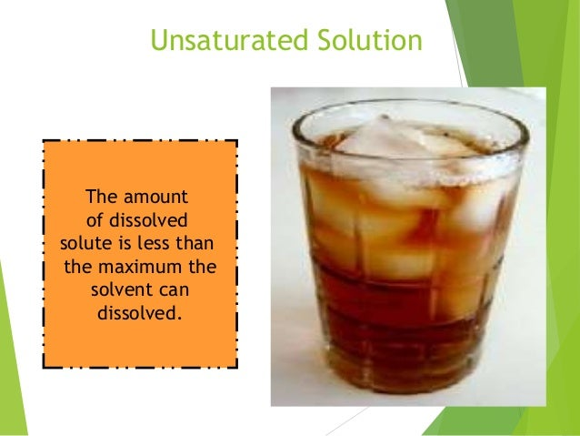 Image Result For Unsaturated Solutiona