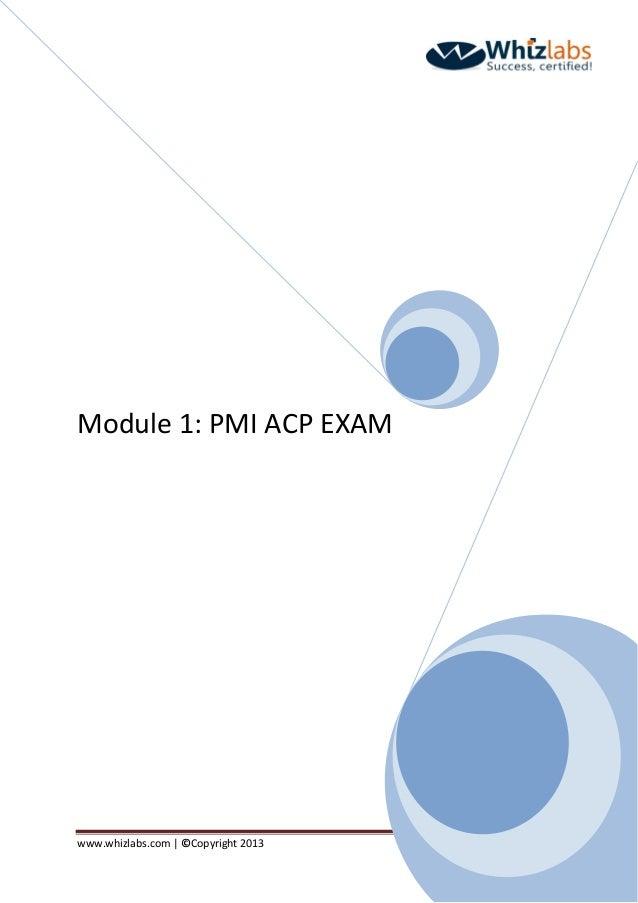 PMI-ACP® Certification Exam