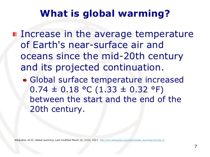 College essay global warming
