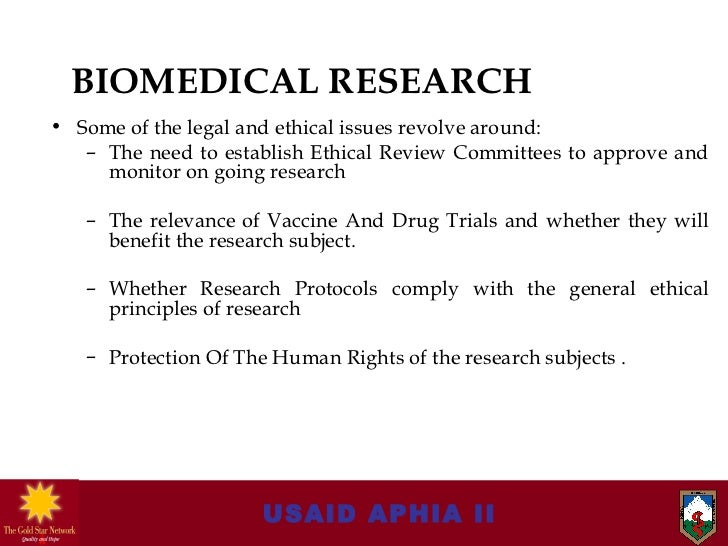 aids related ethical and legal issues Current ethical issues in hiv/aids research and hiv/aids care authors p hlongwa therefore, care and treatment for hiv/aids and its related research.