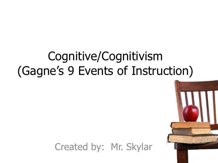 Cognitive/Cognitivism(Gagne's 9 Events of Instruction)       Created by: Mr. Skylar