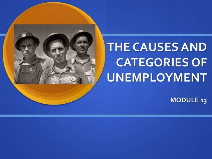 THE CAUSES AND CATEGORIES OFUNEMPLOYMENT        MODULE 13