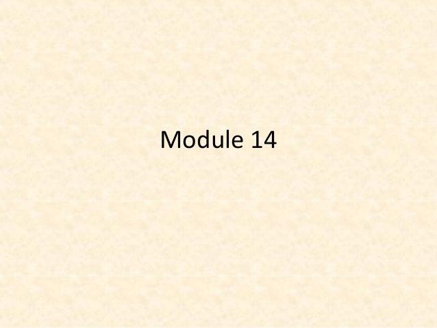 Module 14 - Modern tech - Part 1
