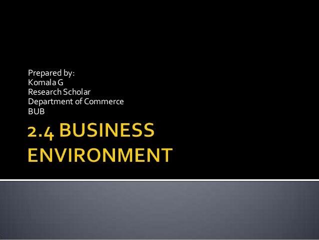 Module 1 business environment