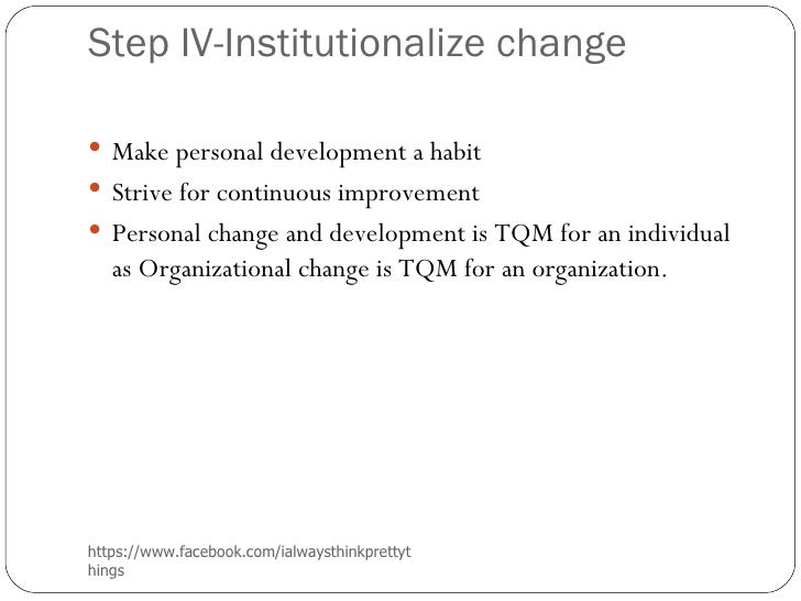 Facebook Organizational Change as Organizational Change