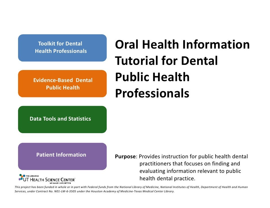 Toolkit for Dental               Health Professionals                                                                     ...