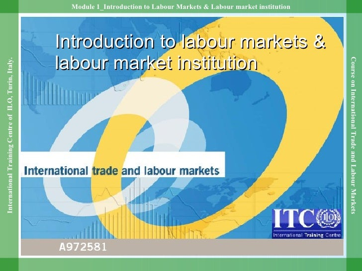 Introduction to labour markets & labour market institution