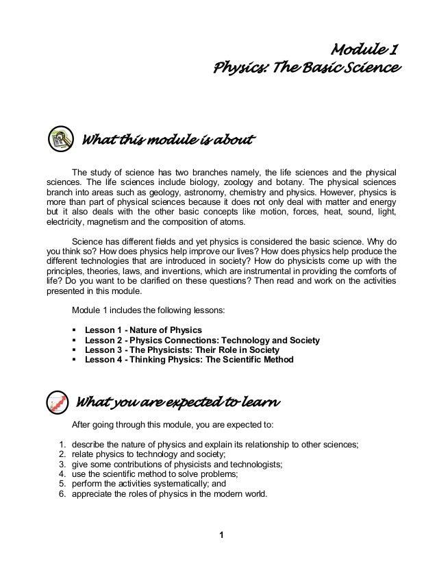 Module 1 physics basic science