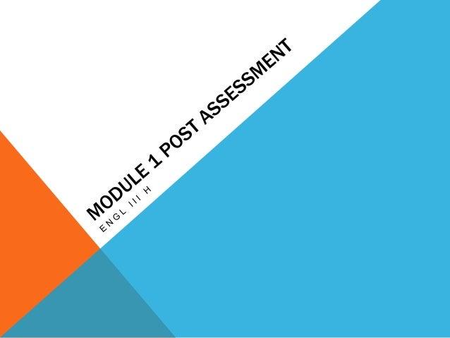 Module 1 post assessment