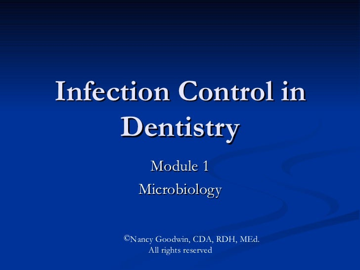 Infection Control in Dentistry