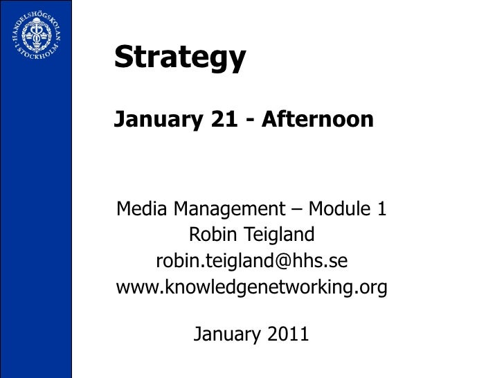 Media Management 2011-Strategy Module - Jan 21_2