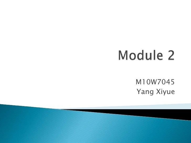 Module 2