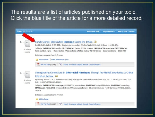 Online research databases