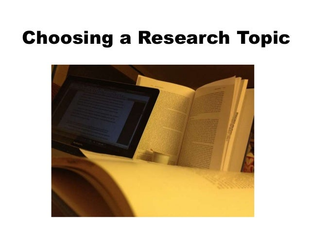 finding a research topic Teachers always emphasize the importance of choosing a strong research topic but sometimes it can be confusing when we try to understand what makes a topic a strong topic additionally, you should consider that you'll be spending a lot of time on a research paper, so it is particularly .