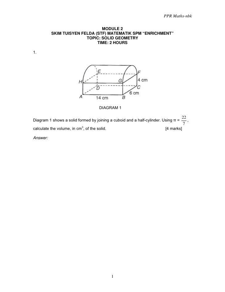 Module 2 Solid Geometry