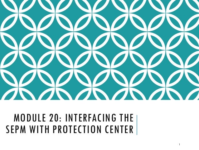 MODULE 20: INTERFACING THE SEPM WITH PROTECTION CENTER 1