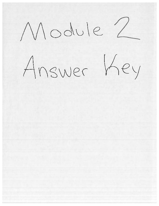Module 2 answer key for homework