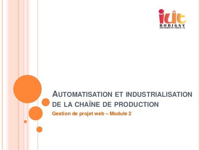 Module 2 IUT Bobigny : Automatisation de la chaîne de production logicielle