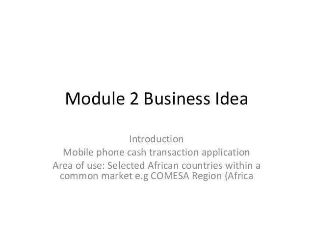 Module 2 business idea