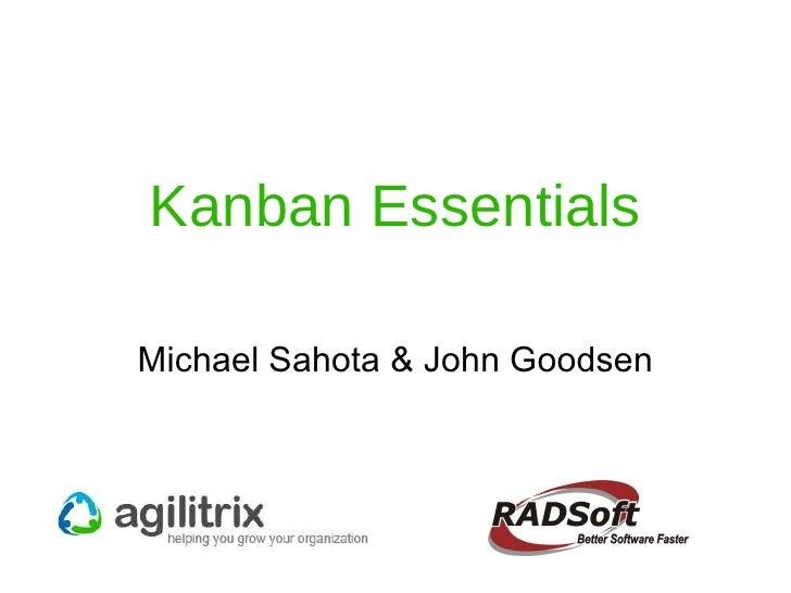 Kanban Essentials Michael Sahota & John Goodsen