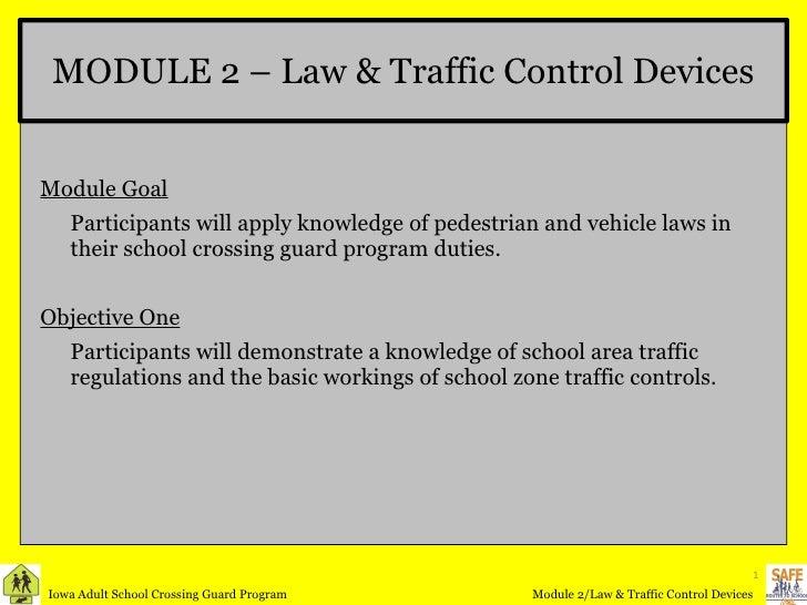 Crossing Guard Module 2 Law