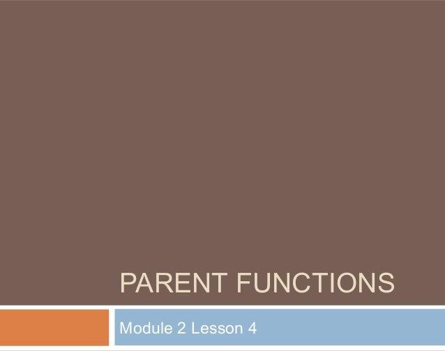 Module 2 lesson 4 notes