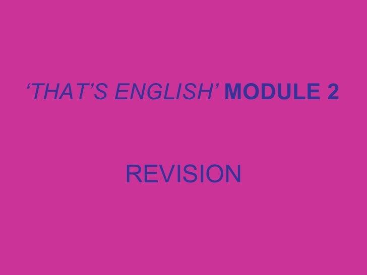 Module 2 revision