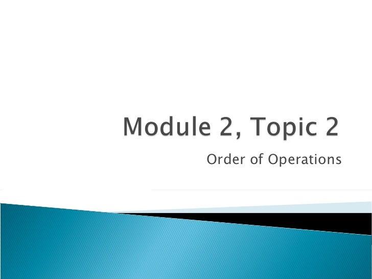 Module 2, topic 2