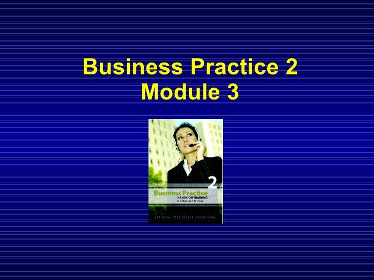 NCV 2 Business Practice Hands-On Support - Module 3