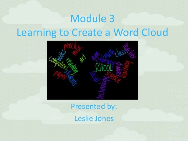Module 3 Creating Word Clouds with your Class