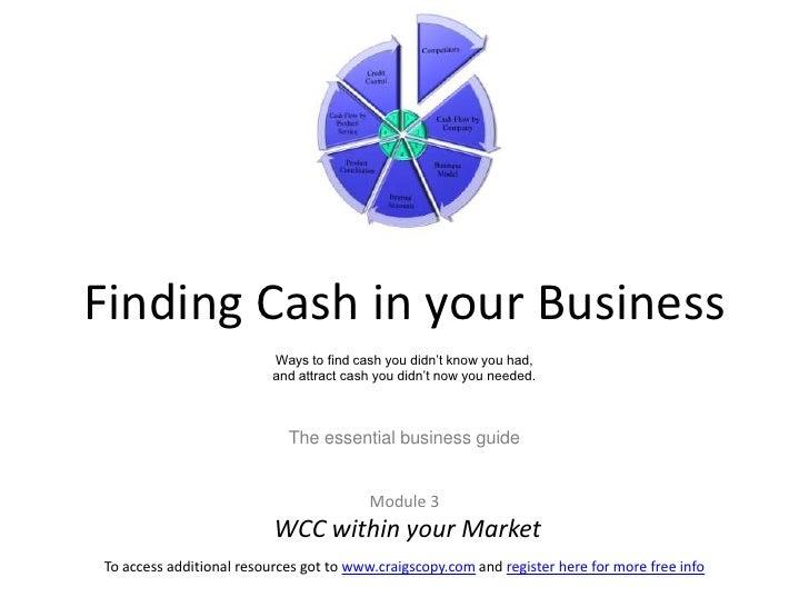 www.craigscopy.com I Module 3. cash flow formula v1.3