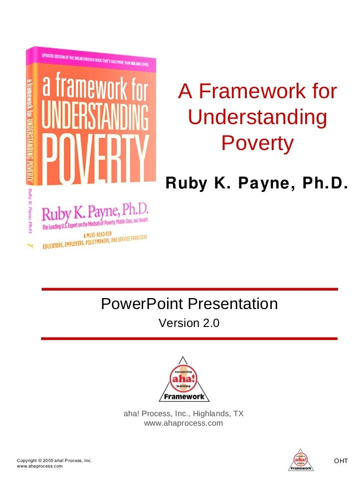 A Framework for Understanding Poverty aha! Process, Inc., Highlands, TX www.ahaprocess.com PowerPoint Presentation Version...