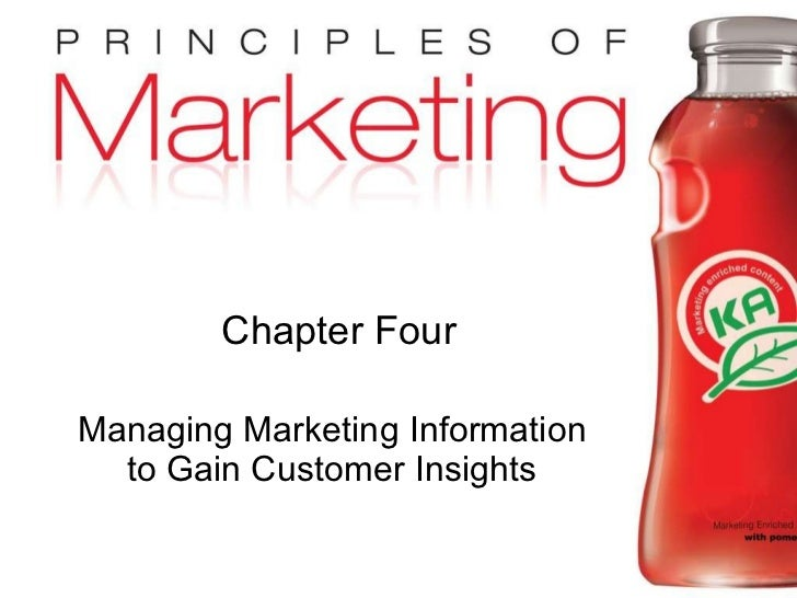 Chapter Four Managing Marketing Information to Gain Customer Insights