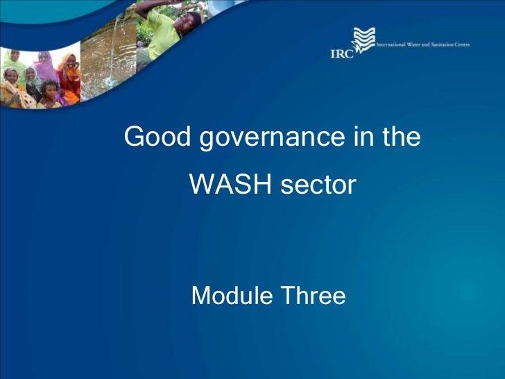 Module 3 wash governance (presentation)