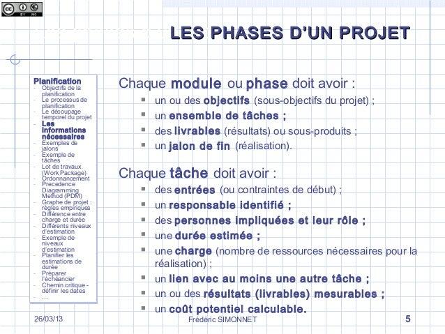 les diff rentes phases d un projet la phase de planification