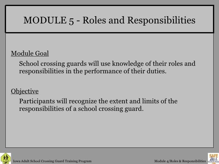 Crossing Guard Module 4 Roles