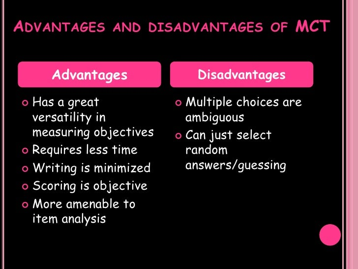 the advantages and disadvantages 2 essay