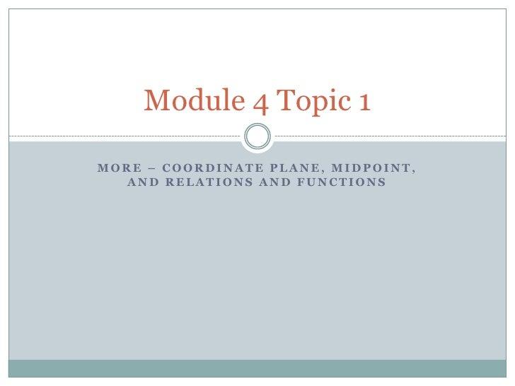 Module 4 topic 1   2nd
