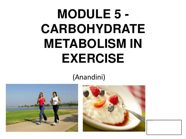 MODULE 5 -CARBOHYDRATEMETABOLISM IN  EXERCISE   (Anandini)