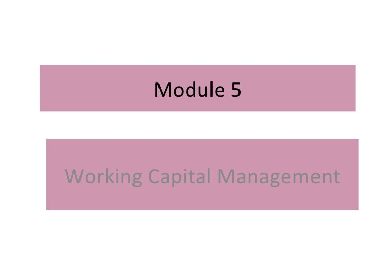 Working Capital Management-B.V.Raghunandan