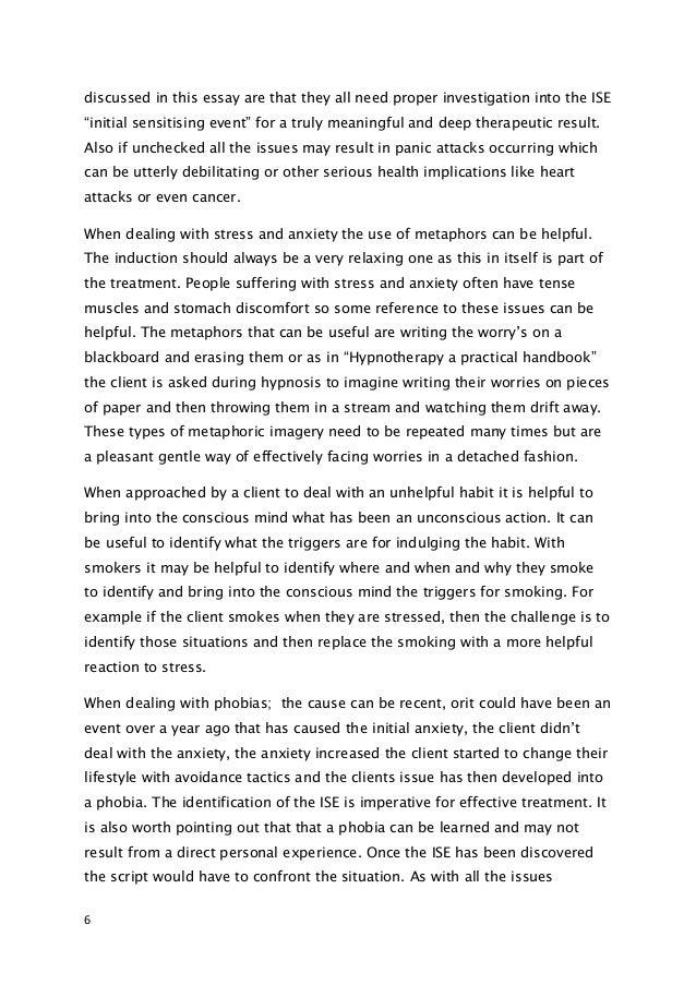 Narrative essay about phobia