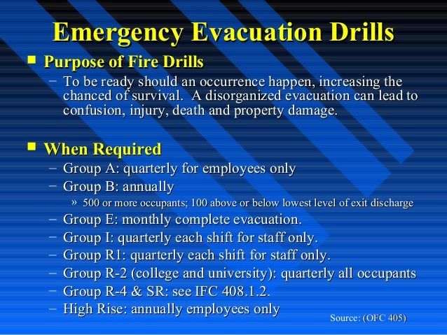 Office building fire drill procedures pictures to pin on for Procedure to build a house